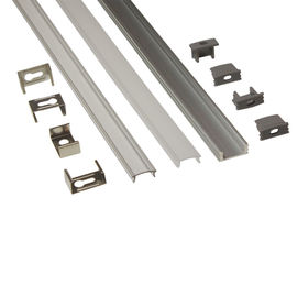চীন Silver Matt Square / Round Anodized Aluminium LED Profiles For LED Frame কারখানা