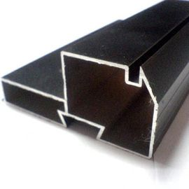 চীন Black Powder Coated RAL9006 Aluminium LED Profiles / Aluminum Extrusion Profiles পরিবেশক